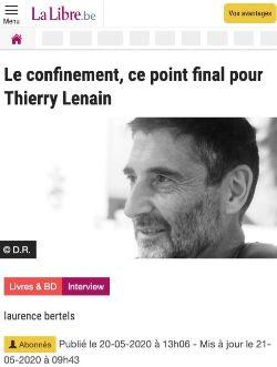 L'interview par Laurence Bertels  parue dans La Libre