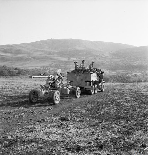 40mm anti-aircraft gun being towed in Syria 16 June 1941 worldwartwo.filminspector.com