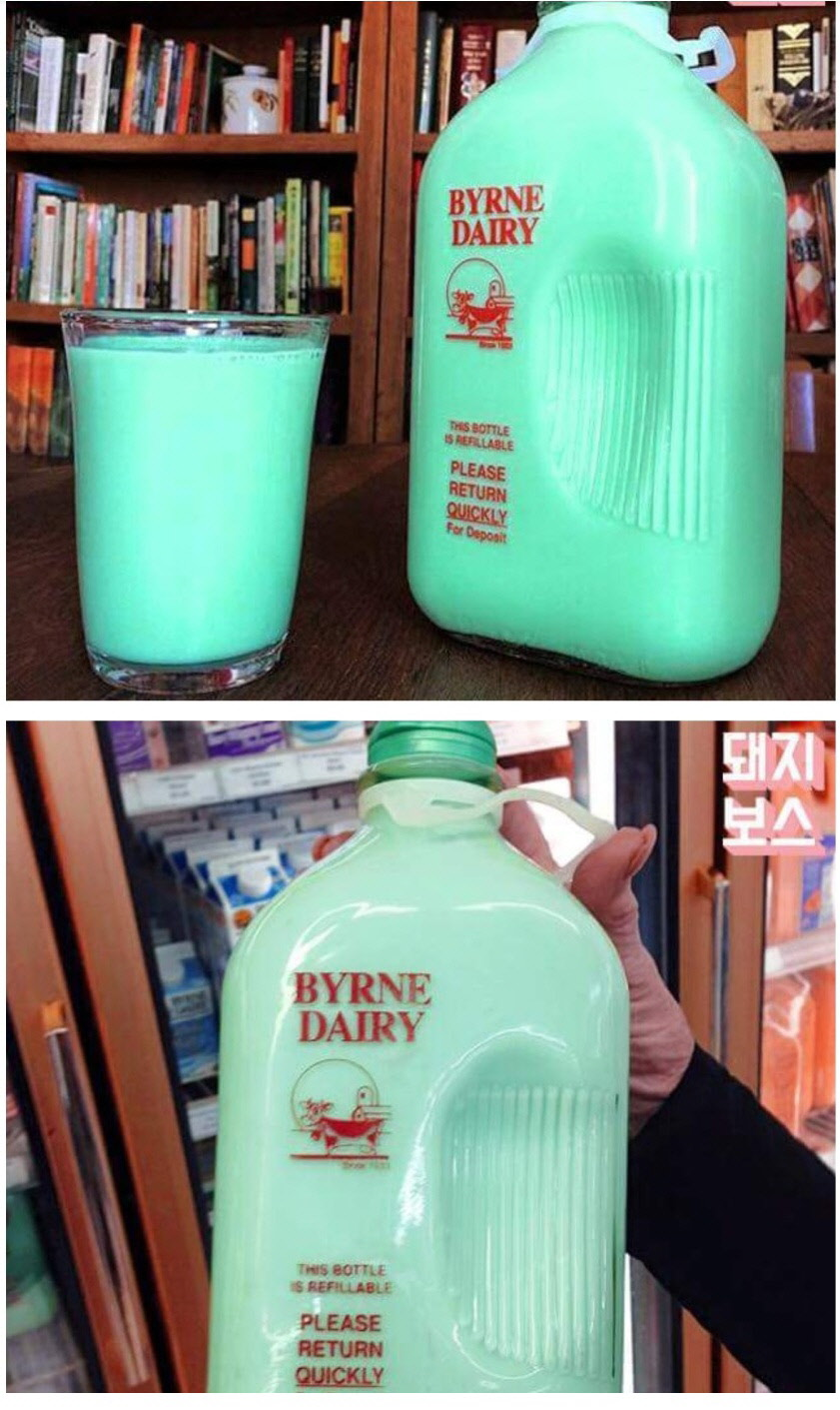 미국 마트에서 파는 9L 민트우유