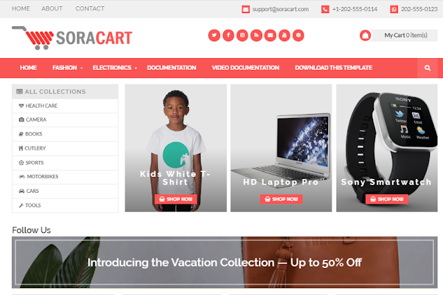 Free blogger shopping template