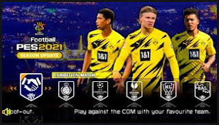 Download eFootball PES 2021 PPSSPP Borussia Dortmund Edition Best Graphics HD & Camera PS5 English Version CV2