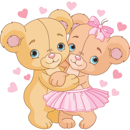 Cute Teddy Bear Couple