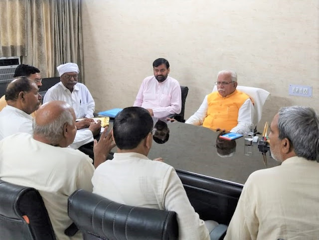 Chief Minister Manohar Lal meets Karnal for the demands of Indian workers union