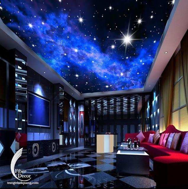 Trang trí trần sao phòng phim