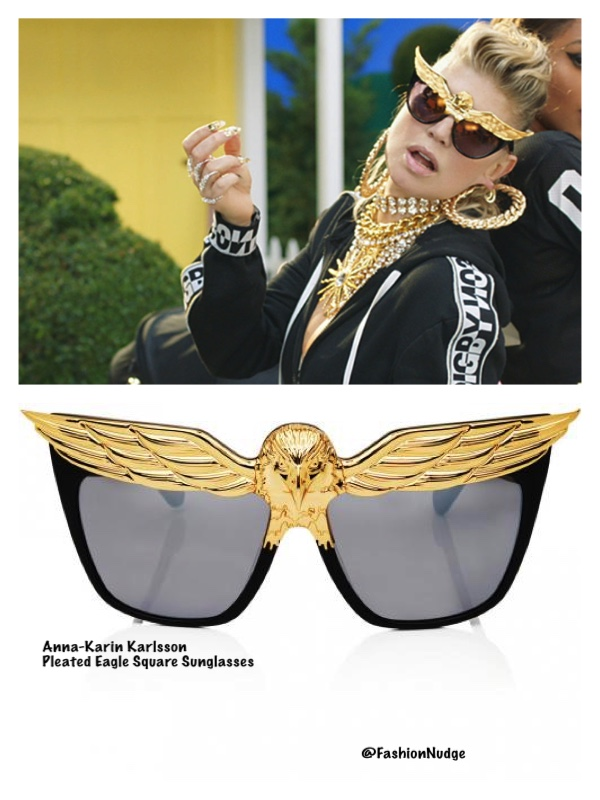 15fc76e659d She rocks these really cool shades by Anna-Karin Karlsson - Plated Eaglet  Cat-Eye Sunglasses ( 24k Gold)