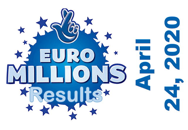 EuroMillions Results for Friday, April 24, 2020