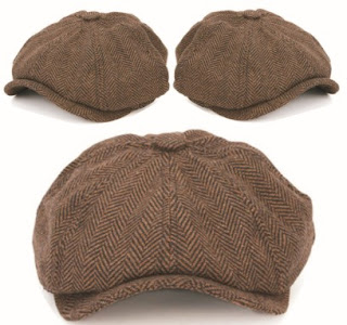 Men's Cabbie Hats: Casual Outdoor Newsboy Caps with Sunshade