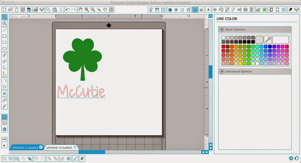 Silhouette Studio, word, shape, Silhouette tutorial, shamrock