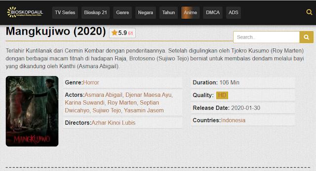 Nonton Film Mangkujiwo (2020) Subtitle Indonesia Full Movie
