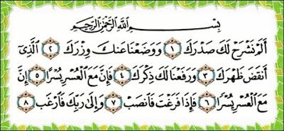 Kelebihan Surah Al Insyirah |