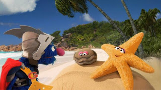 Super Grover 2.0 starfish Lost Ring, Sesame Street Episode 4315 Abby Thinks Oscar is a Prince season 43