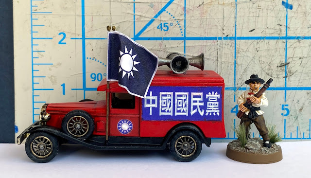 Lledo DG18 Packard 1936 Van , Kuomintang Party 國民黨, Shanghai, China, 28mm WW2 Bolt Action Wargaming