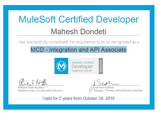 How to become a MuleSoft Certified Developer - Integration and API Associate:-