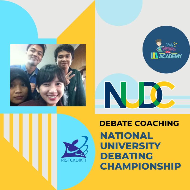 Jasa Pelatih Lomba Debat Bahasa Inggris NUDC KOPERTIS III Jakarta