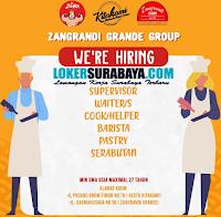 We Are Hiring at Zangrandi Grande Group Surabaya Terbaru Desember 2019