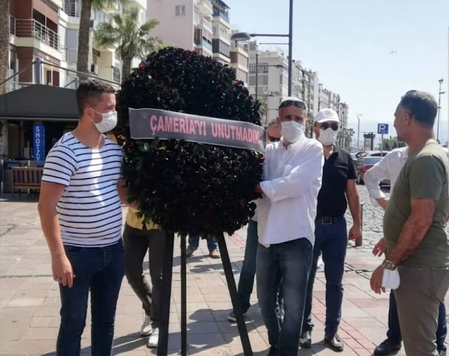 Izmir Albanians commemorate the 76th anniversary of the Greek genocide in Chameria