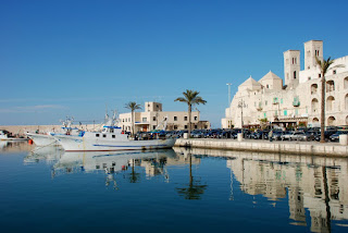 The pretty harbour at Molfetta, on the Adriatic Coast in  Puglia, where Muti grew up
