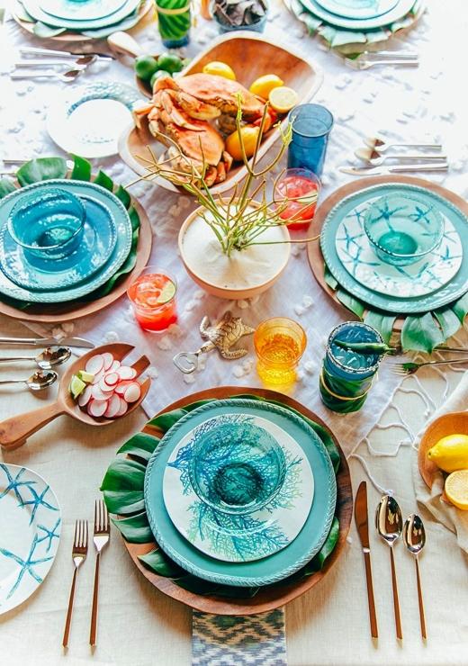 best coastal tabletop decor ideas