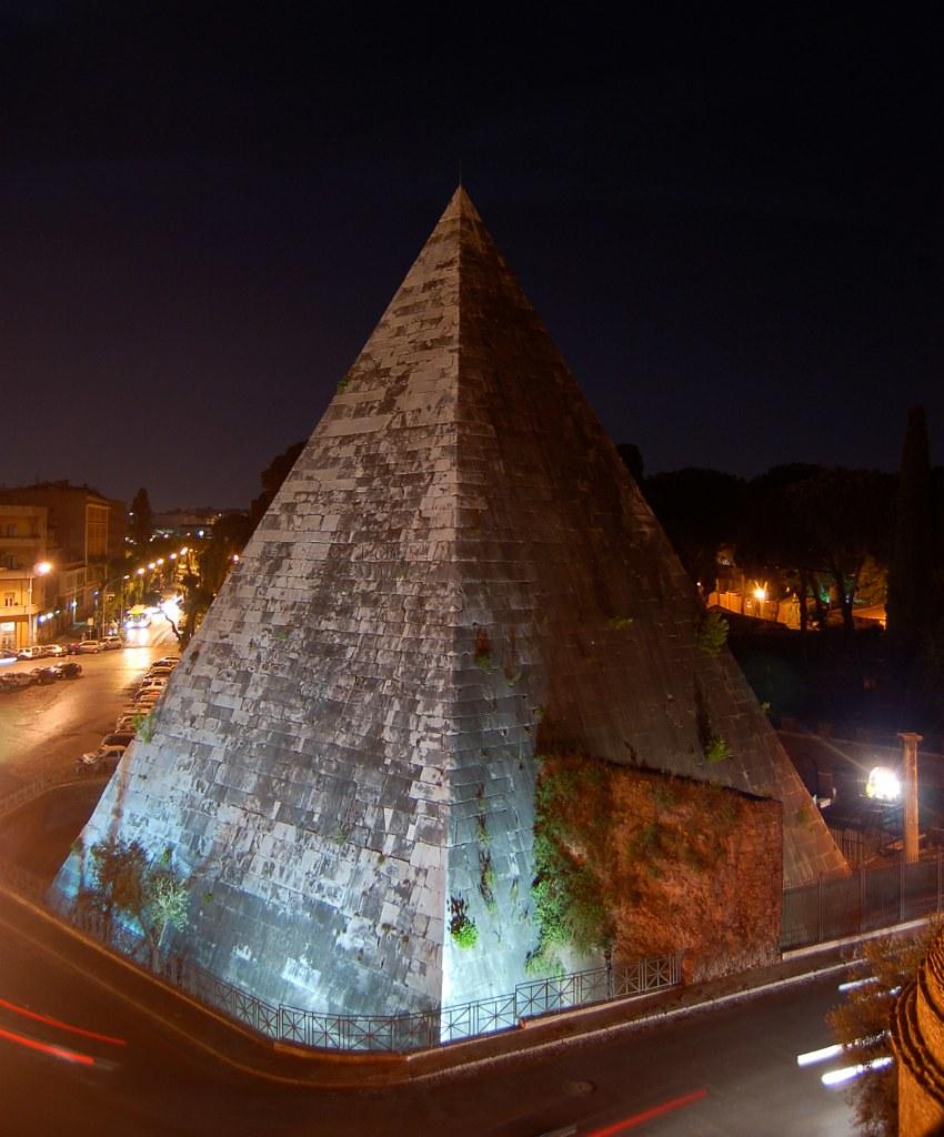 pyramid of caius cestius, italy pyramids, italian pyramids, caius cestius, the pyramid of cestius, piramide rome,