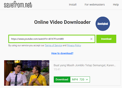 cara download video youtube di chrome