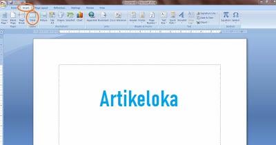 Cara Membuat Tabel di Microsoft Word 1