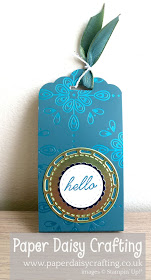 Noble Peacock tag topper chocolate treat Stampin Up