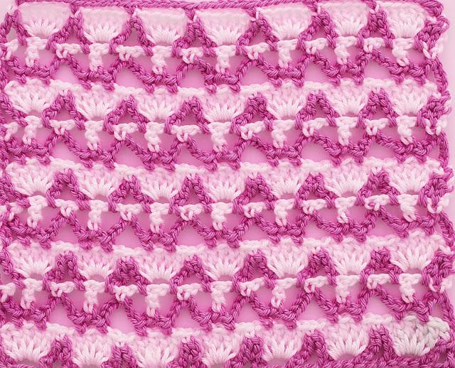 5 - Crochet Imagenes Puntada combinada dos colores a crochet y ganchillo por Majovel crochet