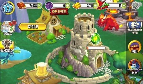 Dragon City đang là game cực hot trên Facebook