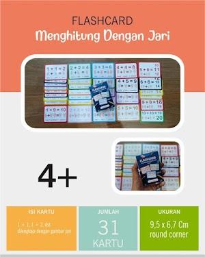 Flash Card Menghitung Dengan Jari