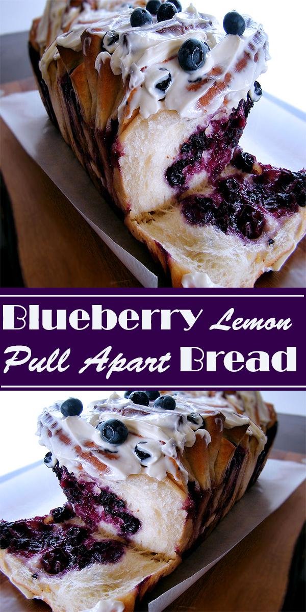 Blueberry Lemon Pull Apart Bread #Blueberry #Lemon #PullApart #Bread #dessert #recipes #cookies