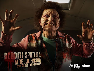 old lady deadite ash vs evil dead poster wallpaper image picture screensaver