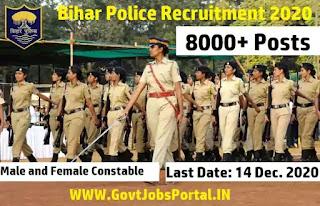 Bihar Police New Vacancy 2020  8415 Police Constable Posts in Bihar