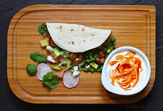 Bajan Prawn Tacos