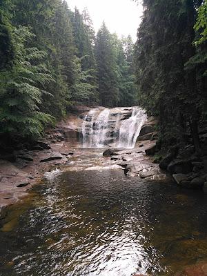 Wodospad Mumlavsky, Mumlavy, Czechy, Harrachov