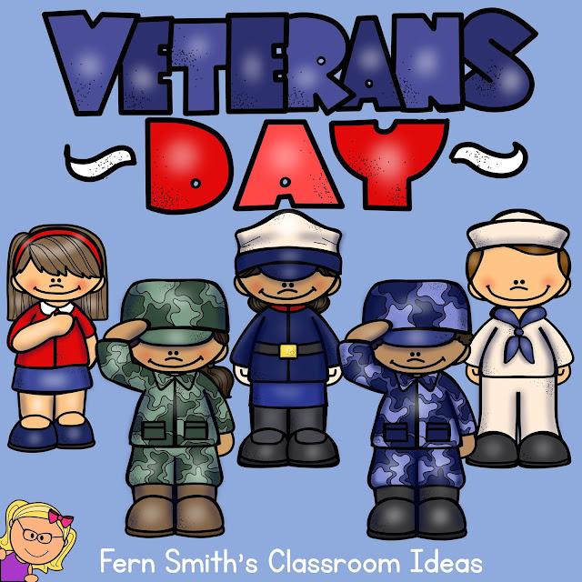 Fern Smith's Classroom Ideas - Veterans Day Resources, Freebies, and a Free Veterans Day Coloring Pages for You!