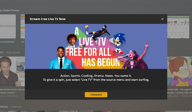 Plex com mais de 80 canais gratuitos!