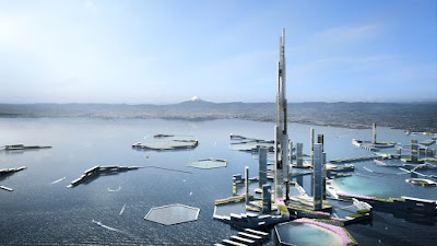 Sky Mile Tower which will be the tallest tower ever and will house over 50000 people