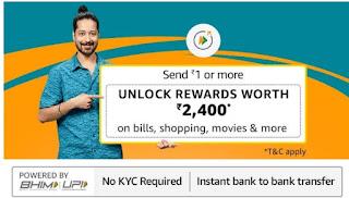 Amazon Pay Send Money UPI Offer