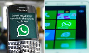On tech news!! WhatsApp stops working on these phones TODAY: App no longer operates on Blackberry handsets and Windows Phone 8.0 or older