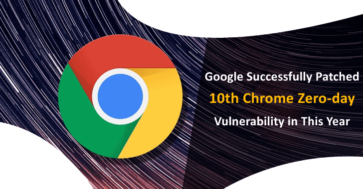 Google Successfully Patched 10th Chrome Zero-day Vulnerability in This Year