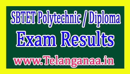TS SBTET Polytechnic Diploma Exam Results 2017