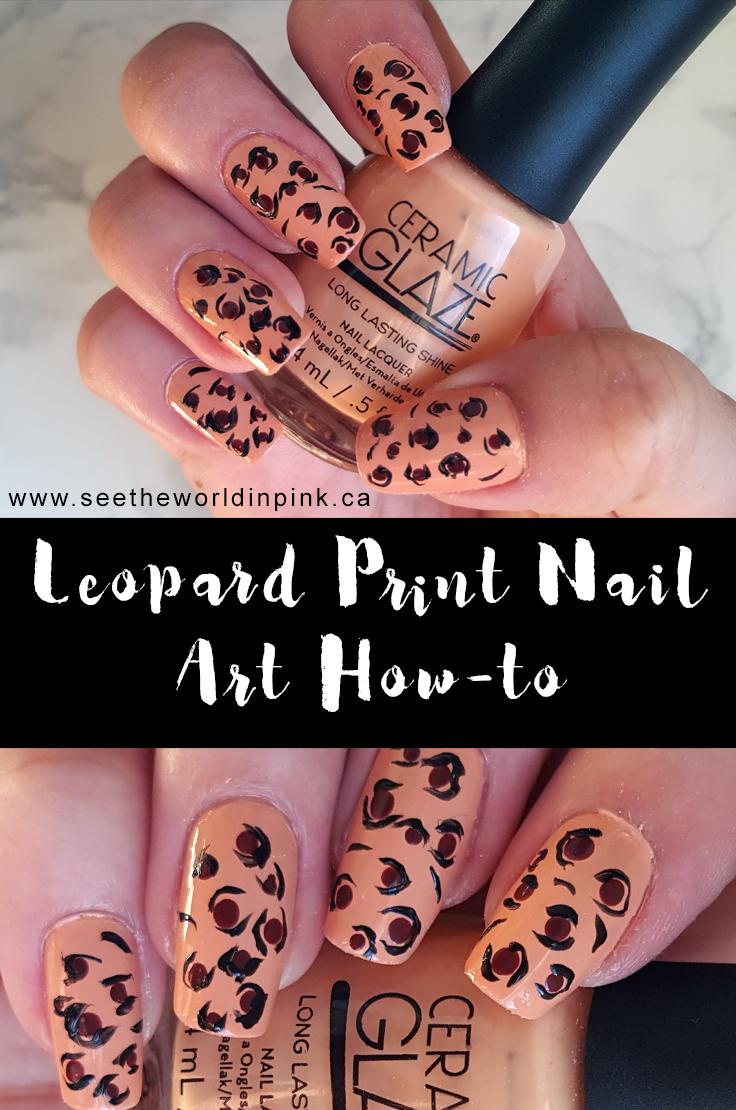Manicure Monday - Leopard Print Nail Art!