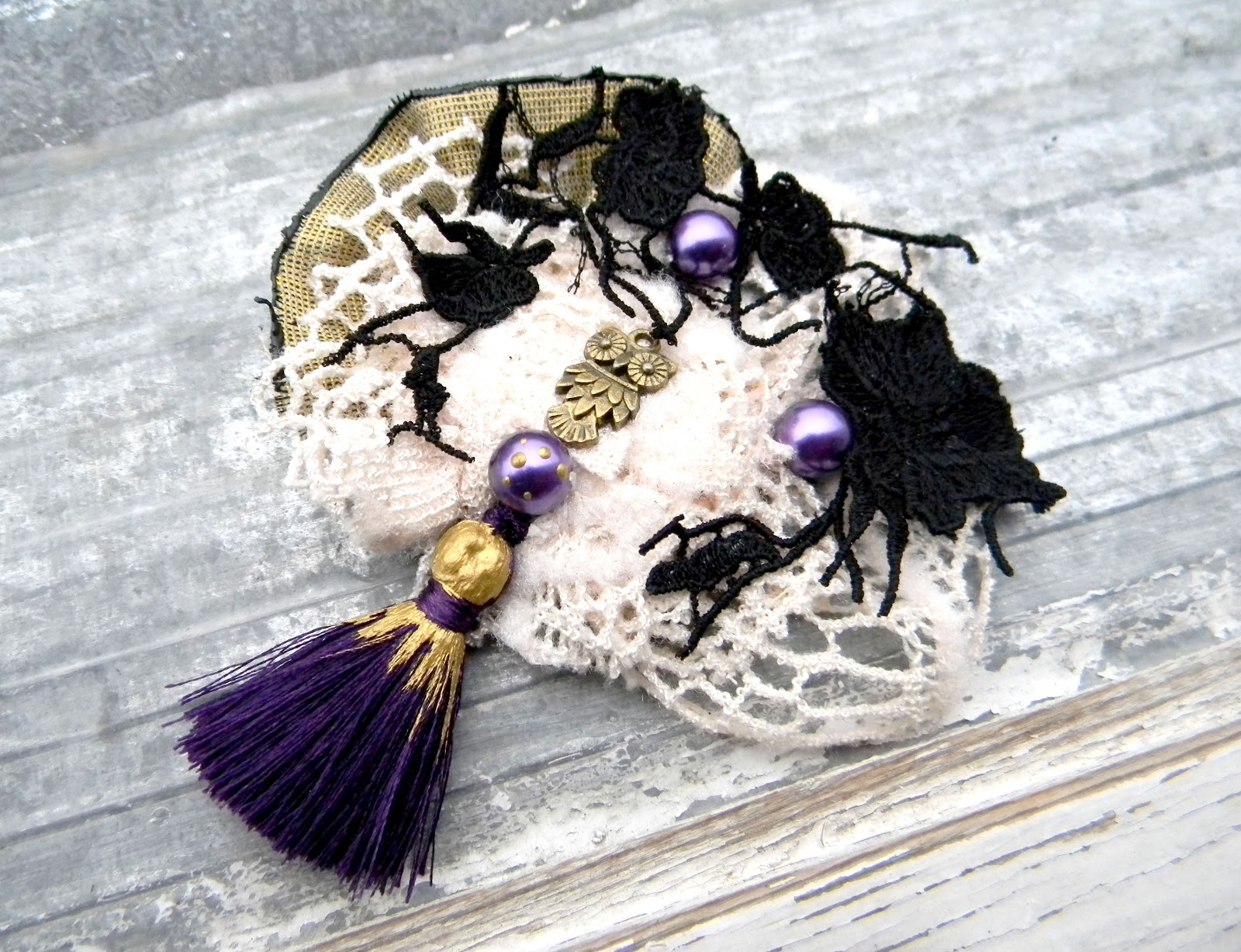 Purple Statement Artistic Brooch