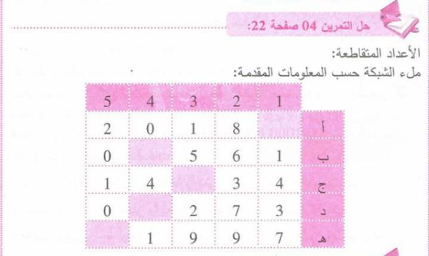 حل تمرين 4 صفحة 22 رياضيات للسنة الأولى متوسط الجيل الثاني