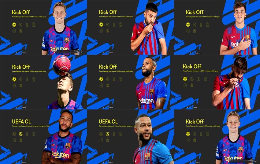 FC Barcelona Graphic Menu 2022 For PES 2013