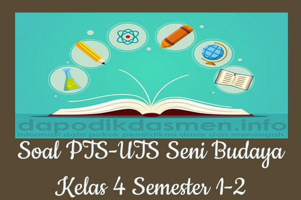 Soal PTS UTS Seni Budaya Kelas 4 Semester 2 SD MI Tahun 2019-2020