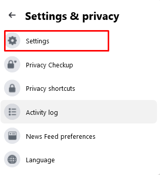Facebook Accoun settings