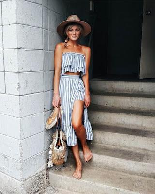 Outfit Crop top de verano