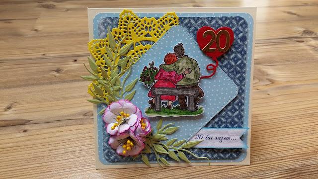 Jubileuszowa kartka – 20 lecie ślubu