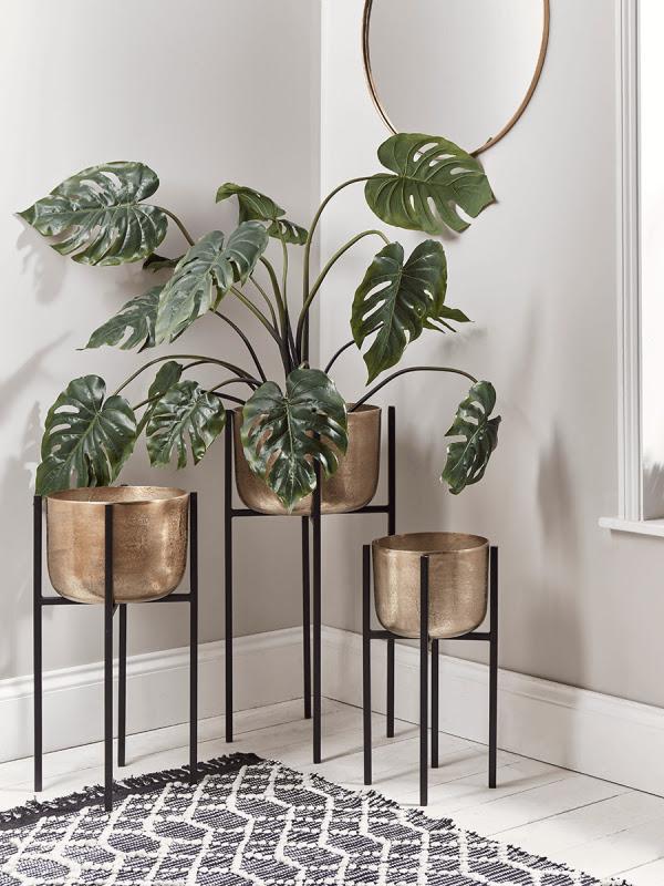 Maceteros Con Soporte Para Plantas De Interior